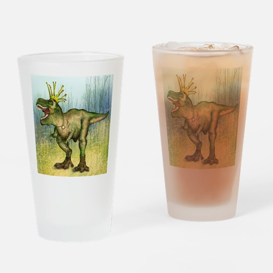 Dylan the T-Rex Drinking Glass