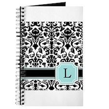 Letter L Black Damask Personal Monogram Journal