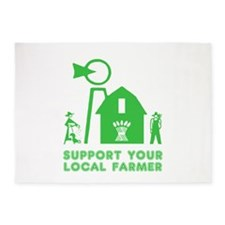 Support Your Local Farmer 3 5'x7'Area Rug