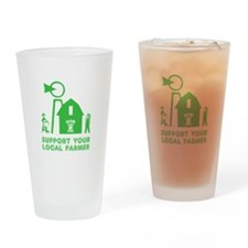 Support Your Local Farmer 3 Drinking Glass