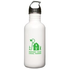 Support Your Local Farmer 3 Water Bottle