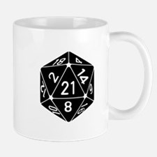 21 Sided 21st Birthday D20 Fantasy Gamer Die Mugs