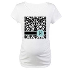 Letter N Black Damask Personal Monogram Shirt