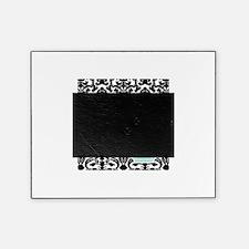 Letter R Black Damask Personal Monogram Picture Frame