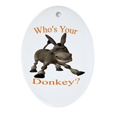 Cute Donkeys mules Ornament (Oval)