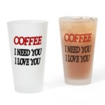 COFFEE Drinking Glass