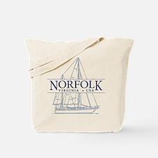 Norfolk VA - Tote Bag