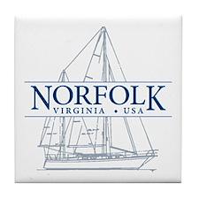 Norfolk VA - Tile Coaster