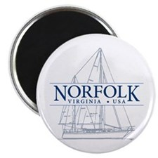 "Norfolk VA - 2.25"" Magnet (10 pack)"