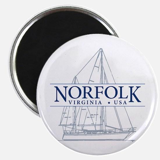 """Norfolk VA - 2.25"""" Magnet (10 pack)"""