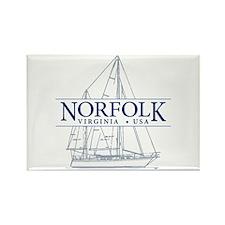 Norfolk VA - Rectangle Magnet (100 pack)