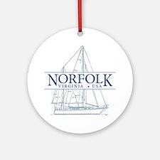 Norfolk VA - Ornament (Round)