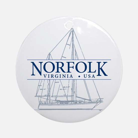 Norfolk VA - Ornament (Round)