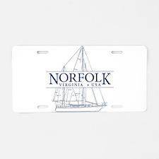 Norfolk VA - Aluminum License Plate