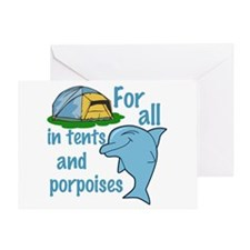 Tents and Porpoises Greeting Card