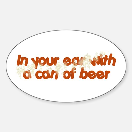 In Your Ear Oval Decal