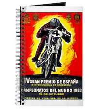 1953 Spanish Grand Prix Motorcycle Race Poster Jou