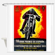 1953 Spanish Grand Prix Motorcycle Race Poster Sho