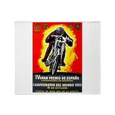 1953 Spanish Grand Prix Motorcycle Race Poster Thr