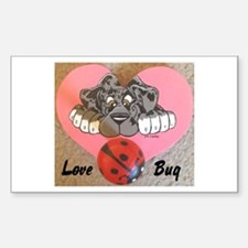 N Mrl Lovebug Rectangle Decal