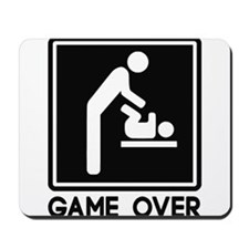 Game Over New Baby for Parent Dad Mousepad