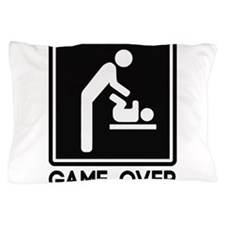 Game Over New Baby for Parent Dad Pillow Case