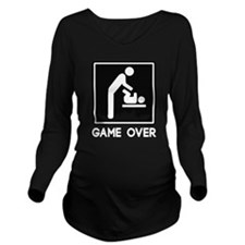 Game Over New Baby for Parent Dad Long Sleeve Mate