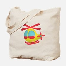 Cute and Colourful Helicopter for Kids Tote Bag