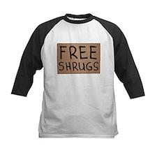 Free Shrugs Cardboard Sign Baseball Jersey
