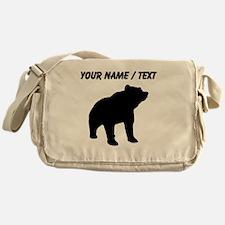 Custom Bear Silhouette Messenger Bag