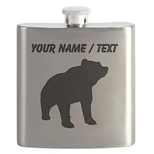 Custom Bear Silhouette Flask