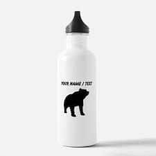 Custom Bear Silhouette Water Bottle