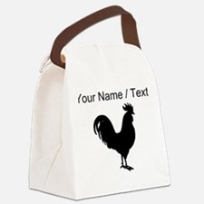 Custom Rooster Silhouette Canvas Lunch Bag