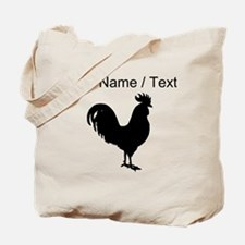 Custom Rooster Silhouette Tote Bag