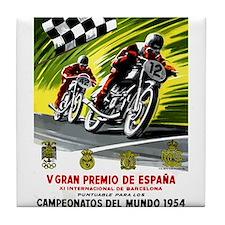 1954 Spanish Grand Prix Motorcycle Race Poster Til