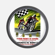 1954 Spanish Grand Prix Motorcycle Race Poster Wal