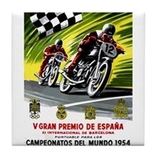 1954 Spanish Grand Prix Motorcycle Race Poster Til