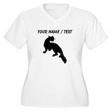 Custom Weasel Silhouette Plus Size T-Shirt