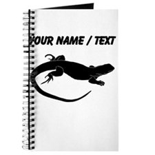 Custom Lizard Silhouette Journal