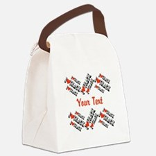 Customize I Love Track Canvas Lunch Bag
