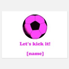 Personalized Lets kick it! - PINK Invitations