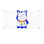 Maneki Neko - Japanese Lucky Cat Banner
