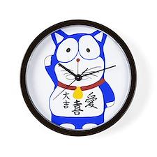 Maneki Neko - Japanese Lucky Cat Wall Clock