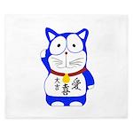 Maneki Neko - Japanese Lucky Cat King Duvet