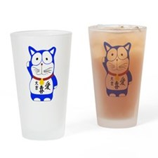 Maneki Neko - Japanese Lucky Cat Drinking Glass