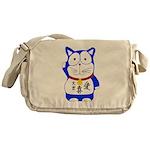 Maneki Neko - Japanese Lucky Cat Messenger Bag