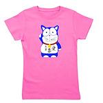 Maneki Neko - Japanese Lucky Cat Girl's Tee