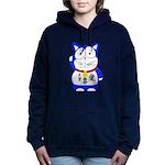Maneki Neko - Japanese Lucky Cat Hooded Sweatshirt