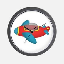Cute and colourful Jet Plane for Kids Wall Clock