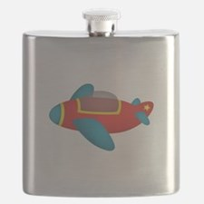 Cute and colourful Jet Plane for Kids Flask